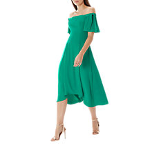 Buy Coast Bonnie Bardot Midi Dress, Green Online at johnlewis.com
