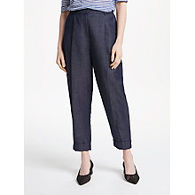 Buy Finery Loanda Peg Trousers, Indigo Online at johnlewis.com