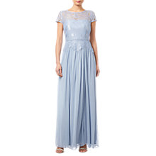 Buy Adrianna Papell Lace Long Dress, Dusty Periwinkle Online at johnlewis.com