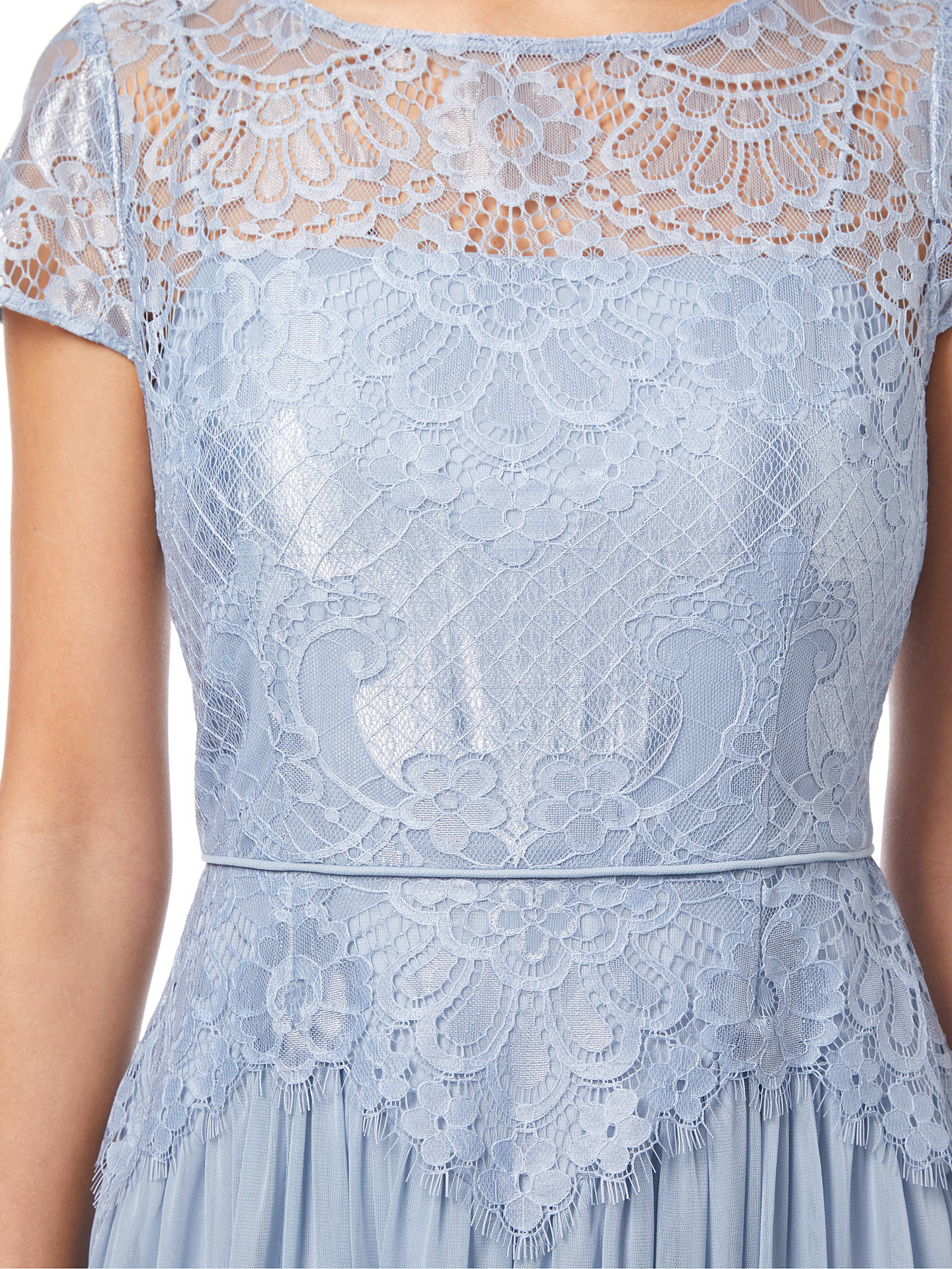 BuyAdrianna Papell Lace Long Dress, Dusty Periwinkle, 8 Online at johnlewis.com