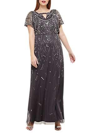 Studio 8 Desiree Beaded Maxi Dress, Grey