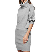 Buy Reiss Cyra Roll Neck Dress, Grey Online at johnlewis.com