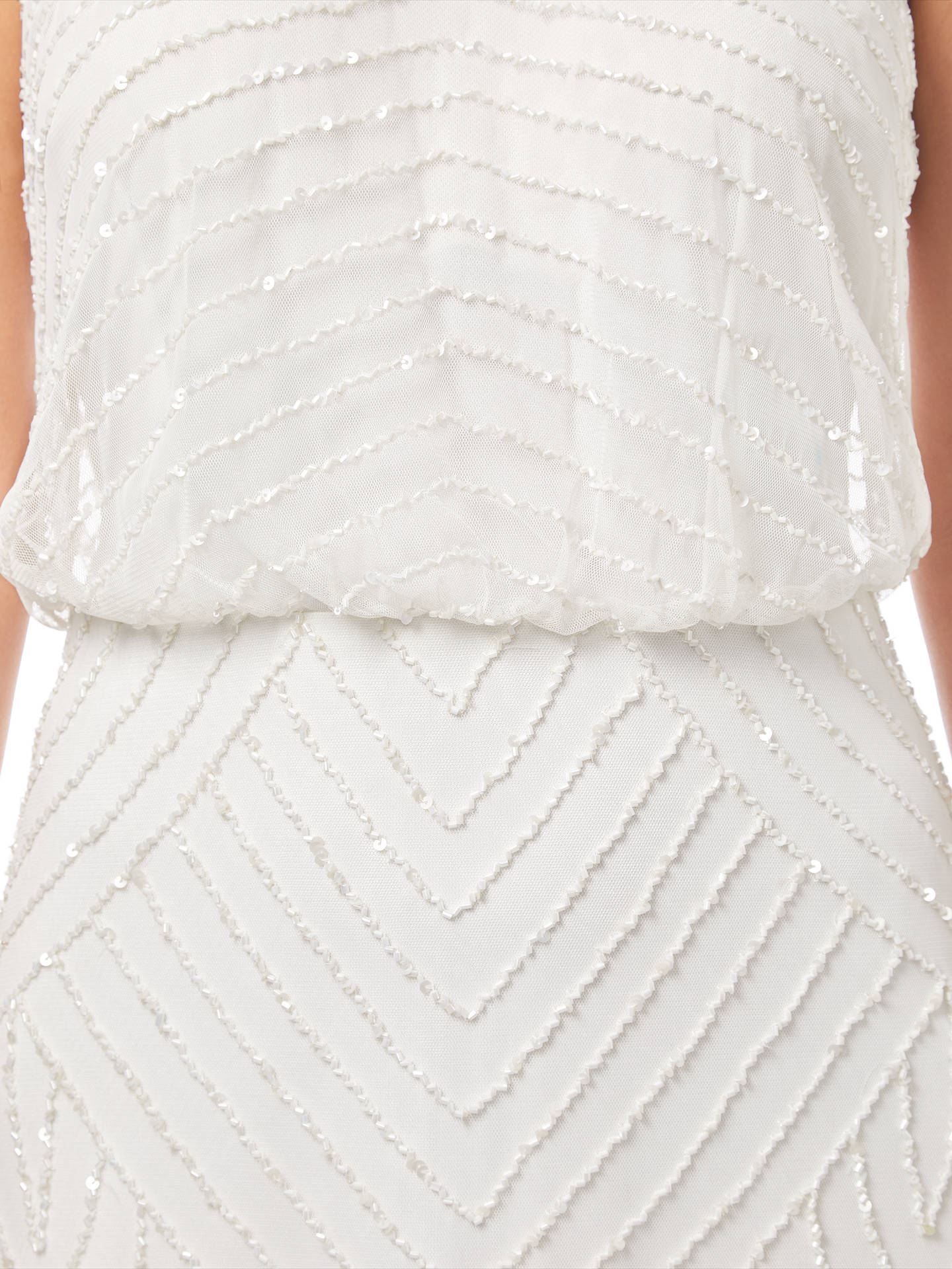 Buy Adrianna Papell Sleeveless Beaded Gown, Ivory, 8 Online at johnlewis.com