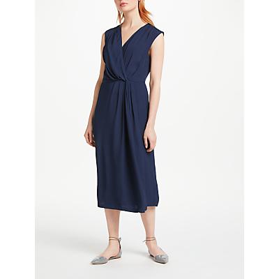Finery Hilton Wrap Dress, Midnight Blue