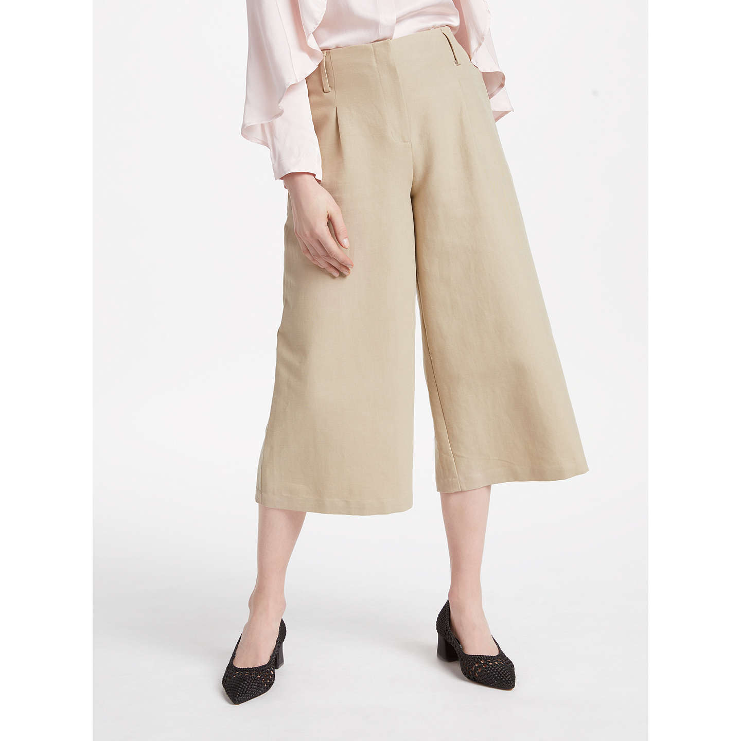 Pascal Ivory Cotton Linen Culottes Finery WE2ErG