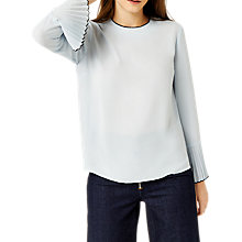 Buy Warehouse Barbican Tipped Pleat Sleeve Top Online at johnlewis.com