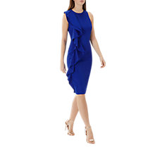 Buy Coast Marissa Ruffle Shift Dress, Cobalt Blue Online at johnlewis.com