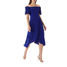 Buy Coast Bonnie Bardot Midi Dress, Cobalt Blue Online at johnlewis.com