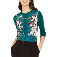 Buy Oasis Woven Front Cardigan, Multi Online at johnlewis.com