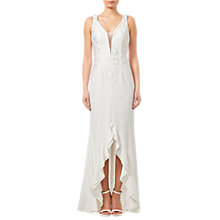 Buy Adrianna Papell Embroidered Bridal Gown, Ivory Online at johnlewis.com