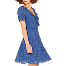 Buy Oasis Lace Tea Dress, Mid Blue Online at johnlewis.com