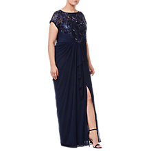 Buy Adrianna Papell Plus Size Long Tulle Dress, Midnight Online at johnlewis.com