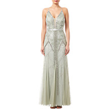 Buy Adrianna Papell Beaded Long Dress, Mint Online at johnlewis.com