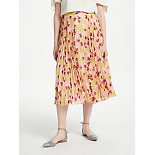Buy Finery Hobman Pleated Skirt, Valentine Glade Online at johnlewis.com