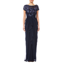Buy Adrianna Papell Long Tulle Dress, Midnight Online at johnlewis.com