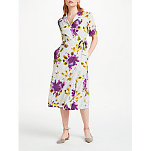 Buy Finery Lyall Short Sleeve Wrap Shirt Dress, Artist Flower Online at johnlewis.com
