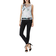 Buy Coast Mishka Print Mesh Top, Multi Online at johnlewis.com
