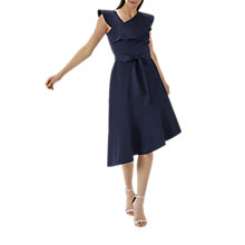 Buy Coast Jade Ruffle Dress, Navy Online at johnlewis.com