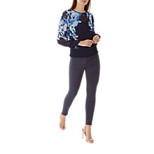 Buy Coast Spears Shirred Top, Navy Online at johnlewis.com