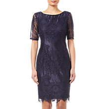 Buy Adrianna Papell Lace Dress, Navy Online at johnlewis.com