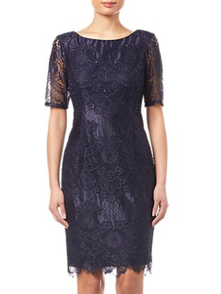 Adrianna Papell Lace Dress, Navy