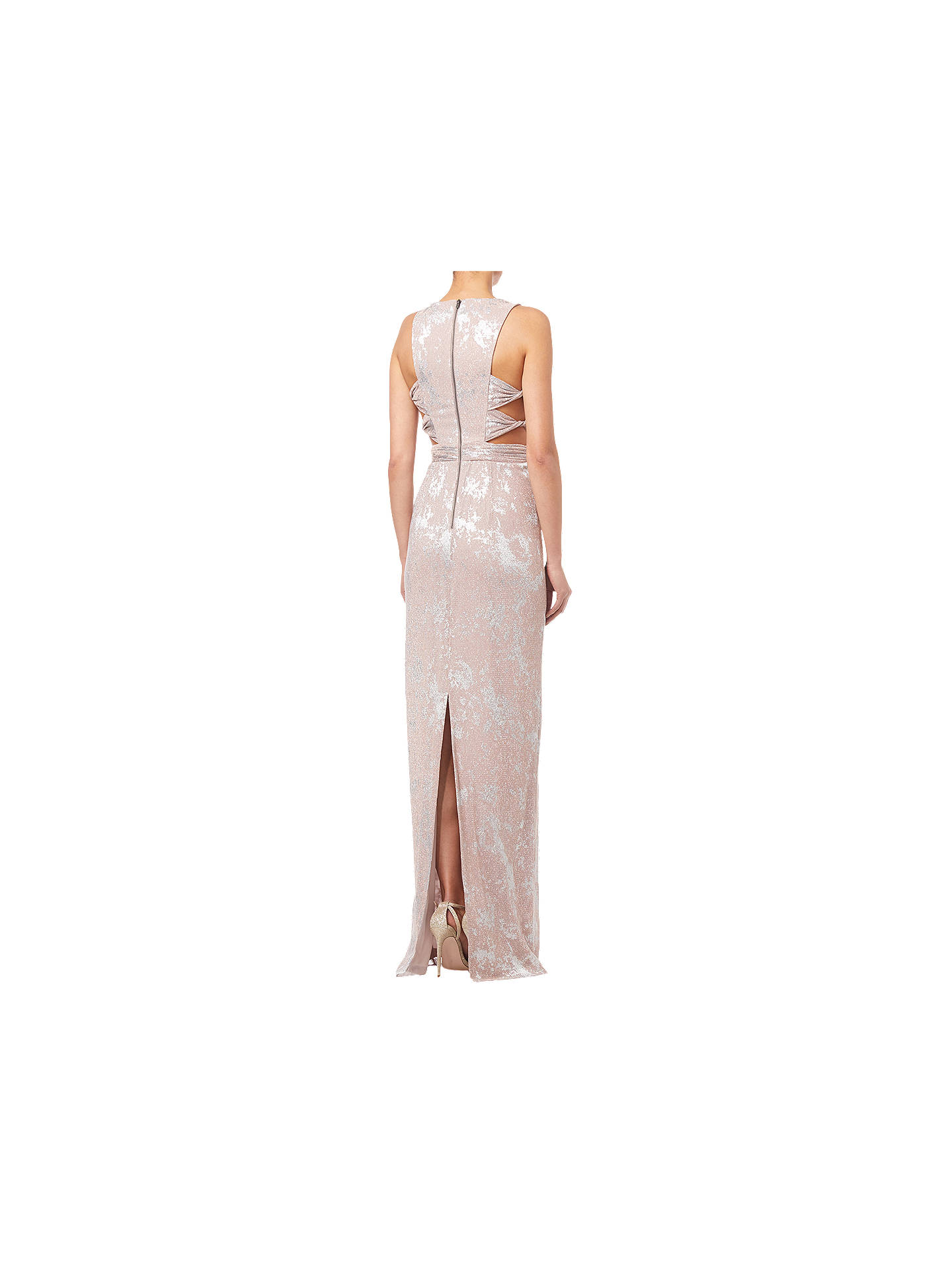 BuyAdrianna Papell Halter Long Dress, Rose Gold, 16 Online at johnlewis.com