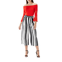 Buy Coast Sherri Stripe Bardot Top, Red Online at johnlewis.com