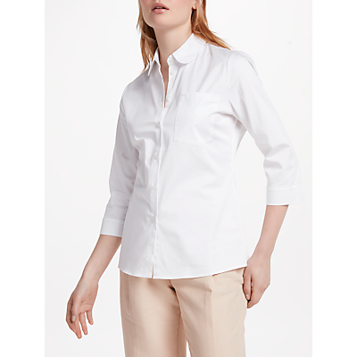 Finery Ancona Fitted Shirt, White