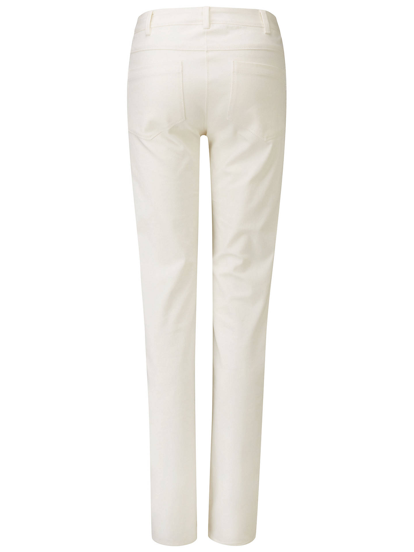 BuyPure Collection Cotton Stretch Straight Leg Jeans, Soft White, 8 Online at johnlewis.com