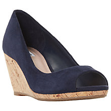 Buy Dune Caydence Peep Toe Wedge Heel Sandals Online at johnlewis.com