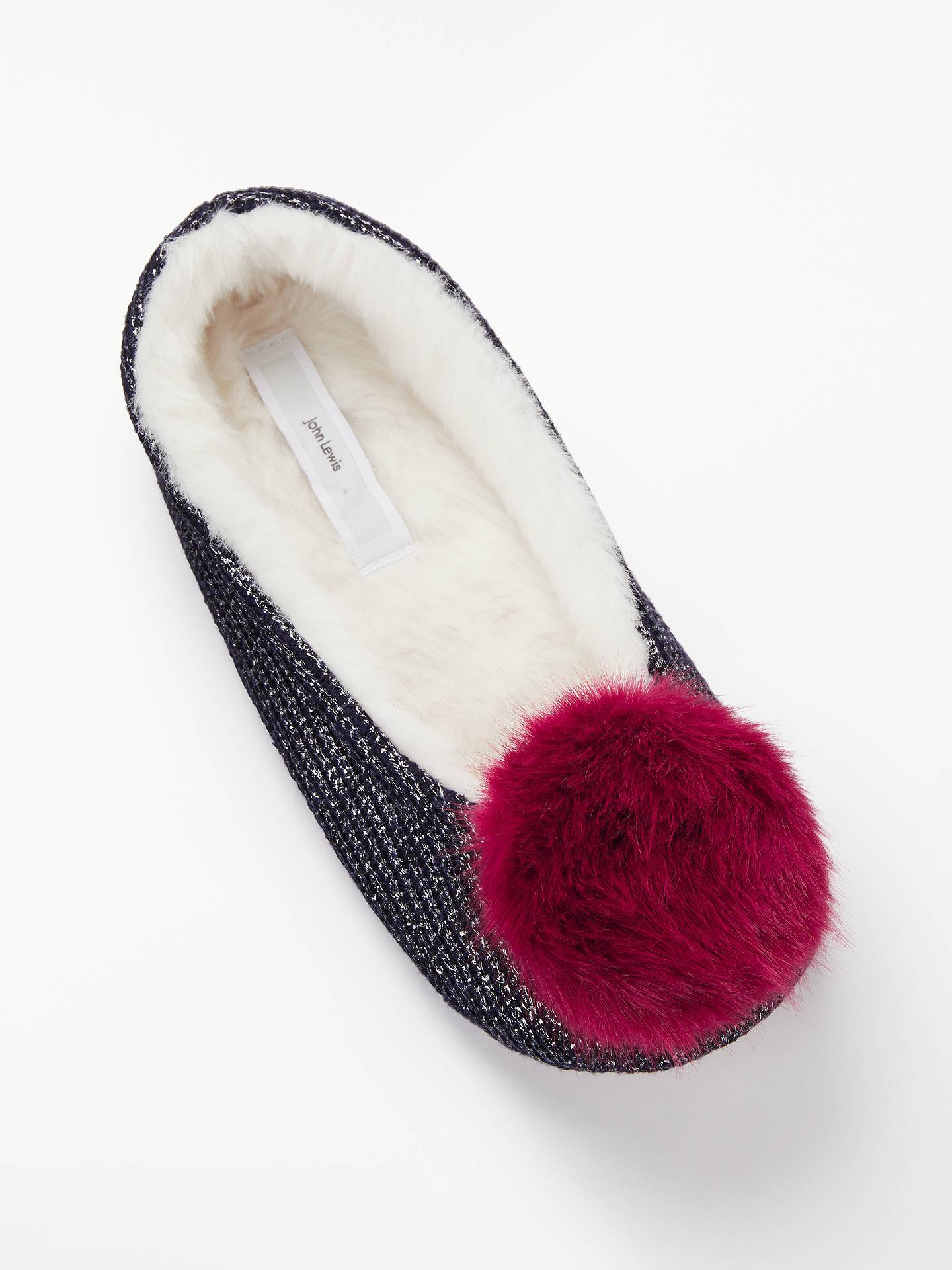 101d31e0a30 ... Buy John Lewis   Partners Pom Pom Ballet Slippers