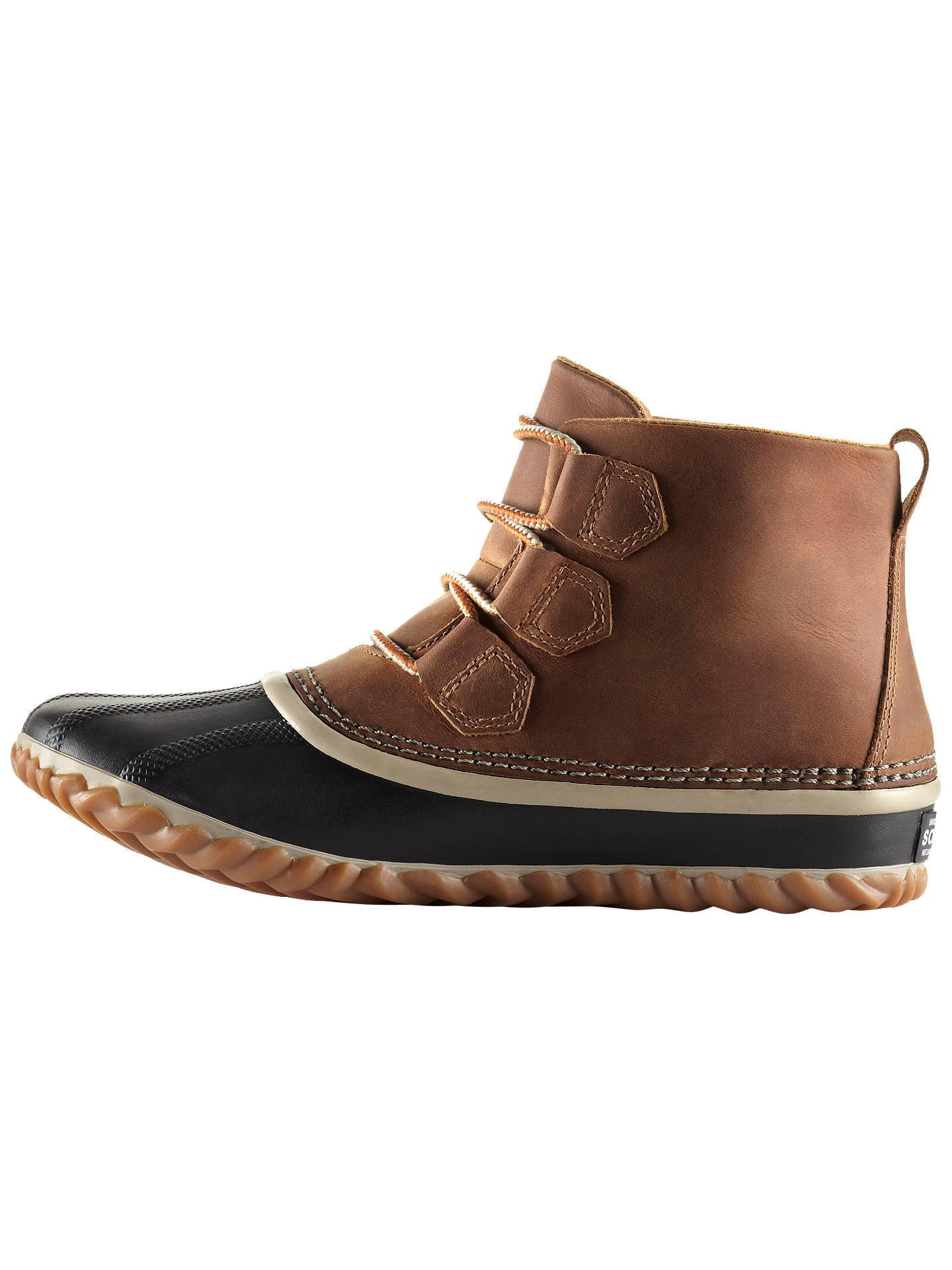BuySorel Out N About Leather Women's Duck Snow Boots, Elk, 4 Online at johnlewis.com