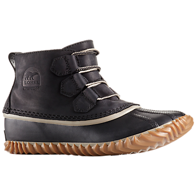 Sorel Out N About Leather Women's Duck Snow Boots, Black