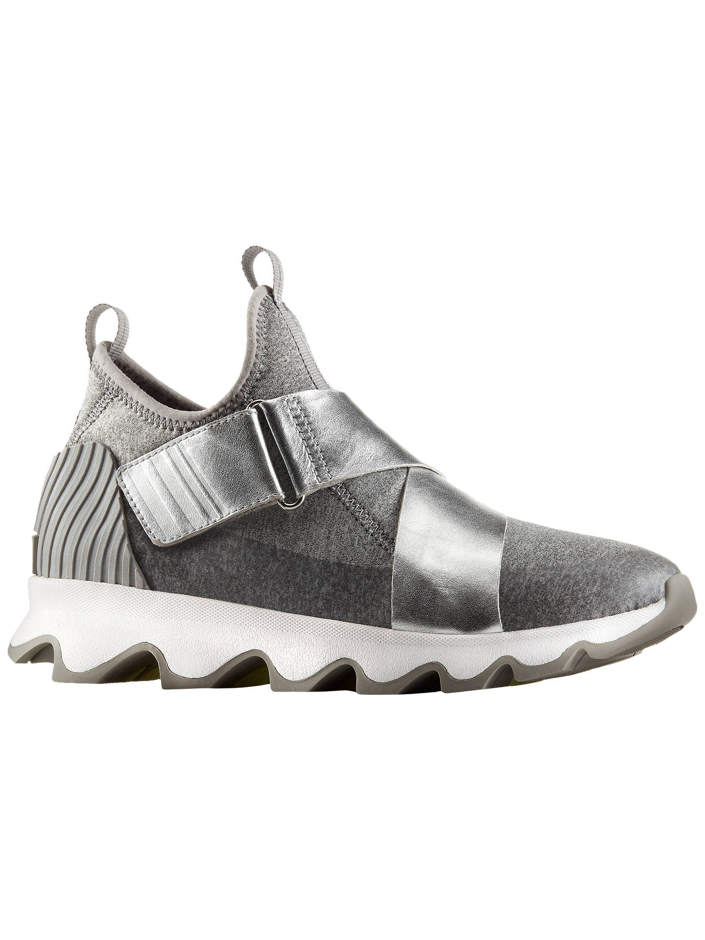 BuySorel Kinetic Metallic Sneak Women's Trainers, Silver, 4 Online at johnlewis.com