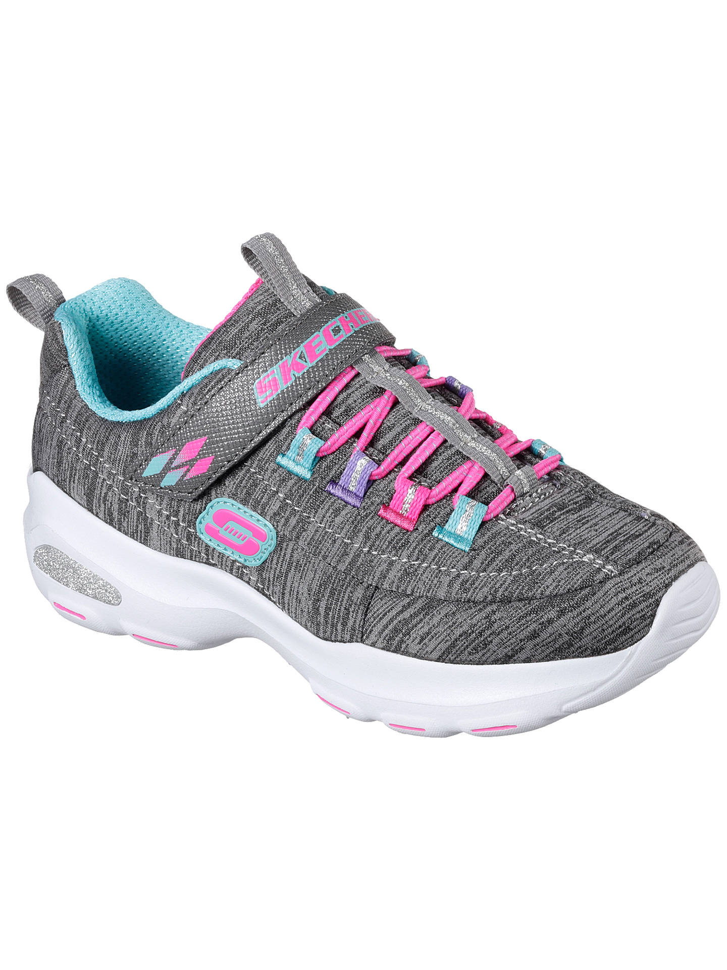 BuySkechers Children's D'Lite Ultra Meditative Trainers, Grey, 27 Online at johnlewis.com