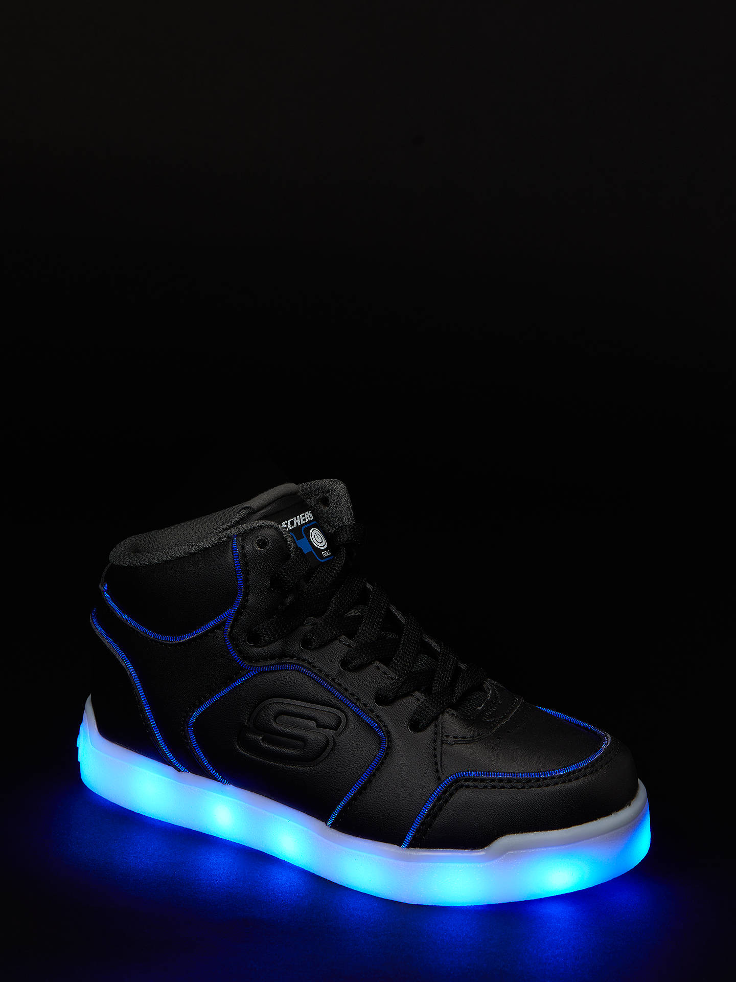 Buy Skechers Children's S Lights Energy Lights Gusto Flash Trainers, Black, 30 Online at johnlewis.com