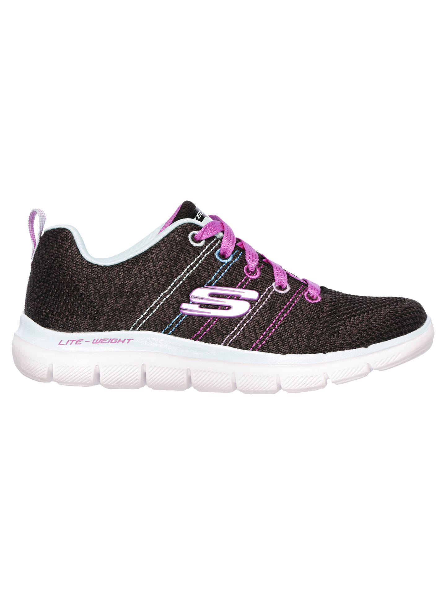 Buy Skechers Children's Skech Appeal 2.0 High Energy Trainers, Black, 33 Online at johnlewis.com
