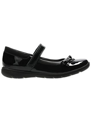 Clarks Children's Venture Star Patent Shoes, Black