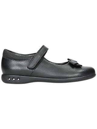 Clarks Children's Prime Skip Leather School Shoes, Black