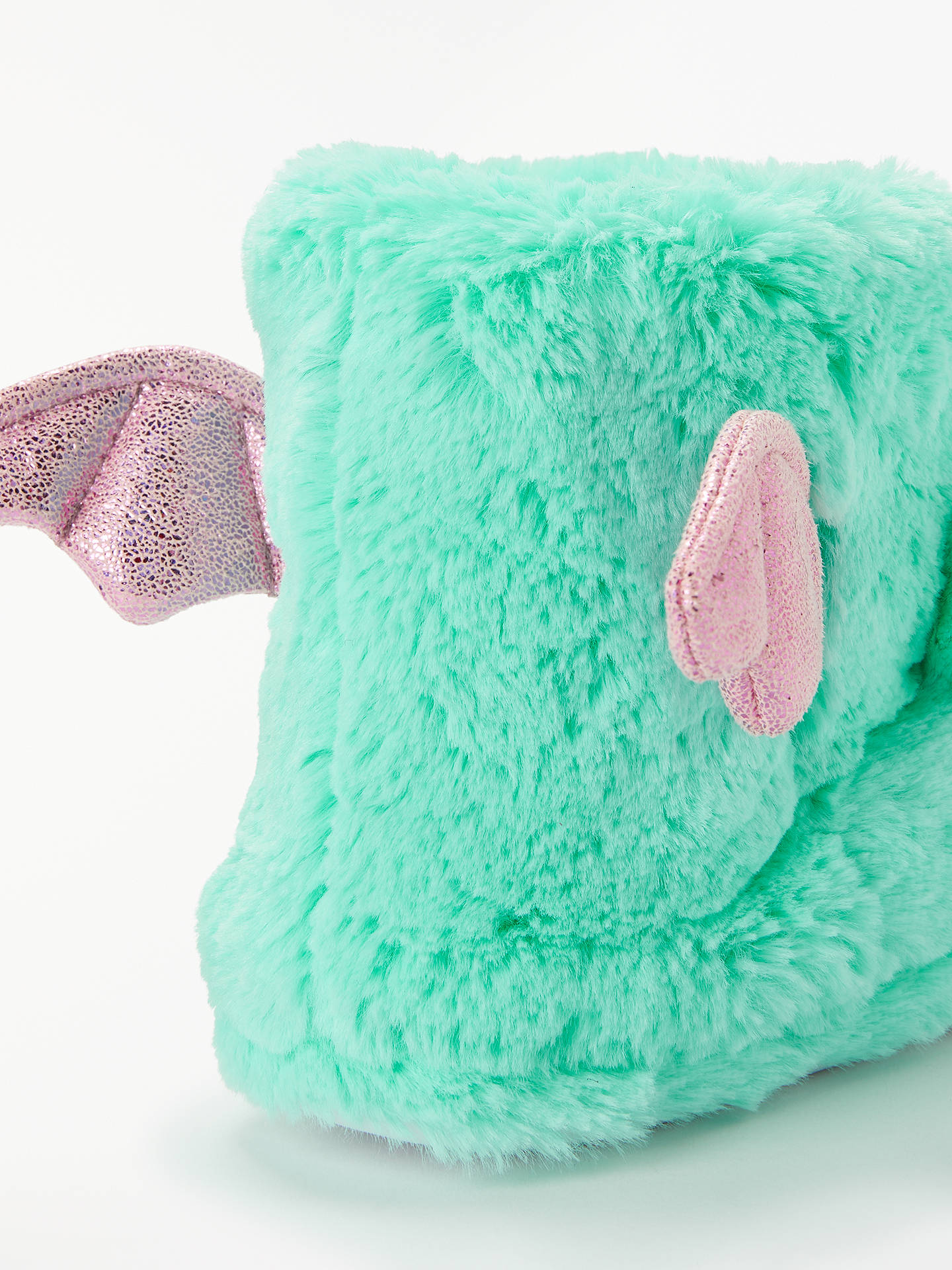 Buy John Lewis & Partners Children's Unicorn Booties Slippers, Turquoise, 10 Jnr Online at johnlewis.com