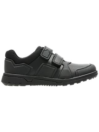 Clarks Children's Blake Street Leather First School Shoes, Black