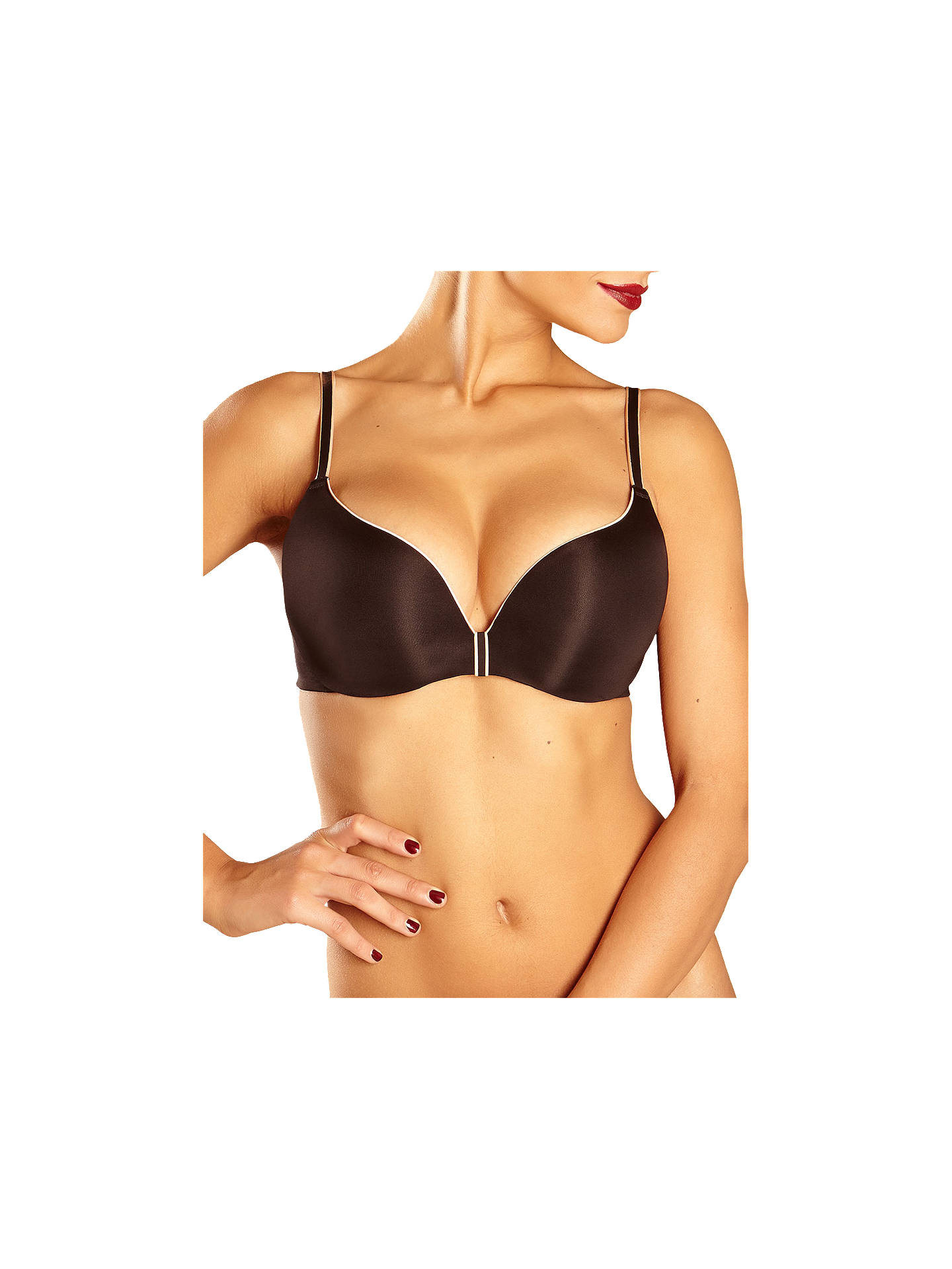 1798e225e090a Buy Chantelle Irresistible Push Up T-Shirt Bra, Black, 30DD Online at  johnlewis ...