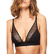 Buy Chantelle Le Marais Triangle Bra, Black Online at johnlewis.com