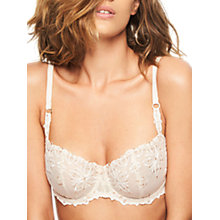 Buy Chantelle Champs Elysees Half Cup Bra, Cappuccino Online at johnlewis.com