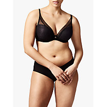 Buy Chantelle Festivite Plunge T-Shirt Bra, Black Online at johnlewis.com