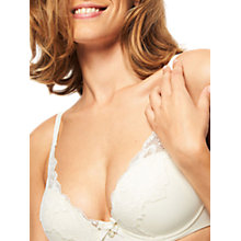 Buy Chantelle Orangerie Plunge Bra, Ivory Online at johnlewis.com
