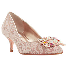 Buy Dune Beaumonte Jewelled Court Shoes, Rose Gold Online at johnlewis.com