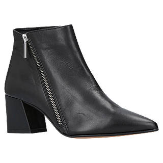Carvela Signet Pointed Toe Ankle Boots, Black