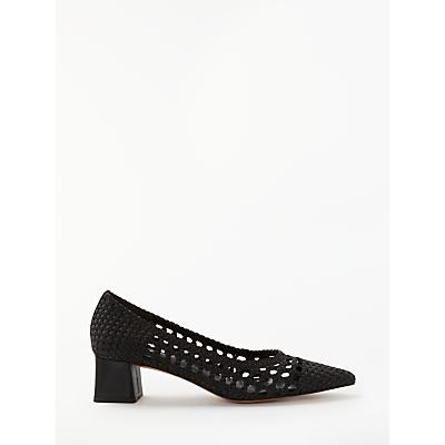 Finery Creswick Block Heel Court Shoes, Black
