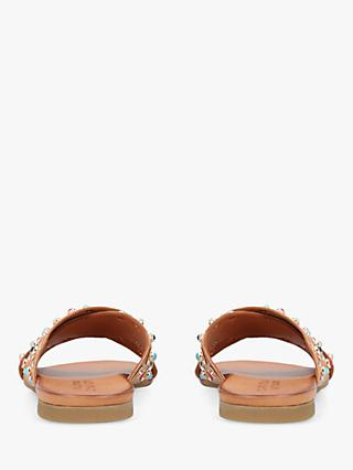 Carvela Koncern Leather Embellished Slider Sandals